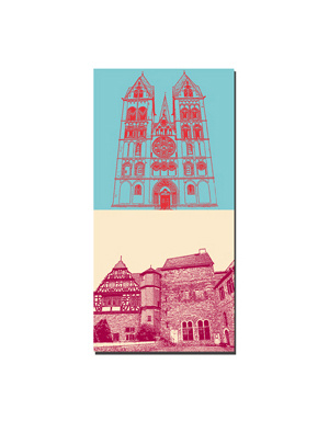 ART-DOMINO® BY SABINE WELZ Limburg - Dom + Schloss