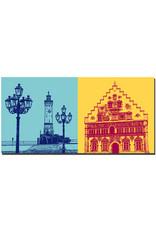 ART-DOMINO® BY SABINE WELZ Lindau - Leuchturm und Kandelaber + Neues Rathaus