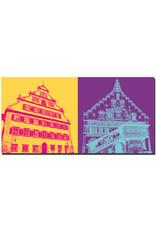 ART-DOMINO® BY SABINE WELZ Lindau - Altes Rathaus + Neues Rathaus