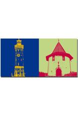 ART-DOMINO® BY SABINE WELZ Lindau - Leuchturm + Pulverturm
