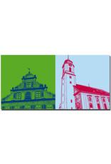 ART-DOMINO® BY SABINE WELZ Lindau - Glockenspiel Altes Rathaus + Münster