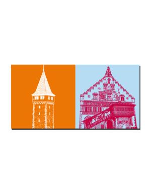 ART-DOMINO® BY SABINE WELZ Lindau - Mangturm + Neues Rathaus