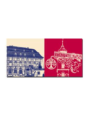 ART-DOMINO® BY SABINE WELZ Lindau - Stadtmuseum + Stadtmuseum-Schild