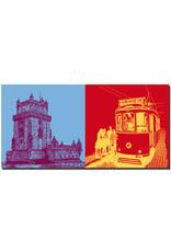ART-DOMINO® BY SABINE WELZ Lissabon - Torre de Belèm + Tram 28 MONIZ