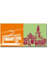 ART-DOMINO® BY SABINE WELZ Lissabon - Tram 15 nach Belem + Triumphbogen Platz Torreiro do Placo