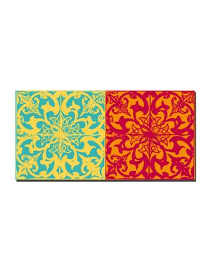 ART-DOMINO® BY SABINE WELZ Lissabon - Kachel (Azulejo) + Kachel (Azulejo)