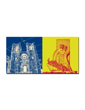 ART-DOMINO® BY SABINE WELZ Lissabon - Kathedrale Sé Patriarcal + Entdeckerdenkmal