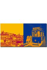 ART-DOMINO® BY SABINE WELZ Lissabon - Blick über Lissabon + Tram 28 MONIZ