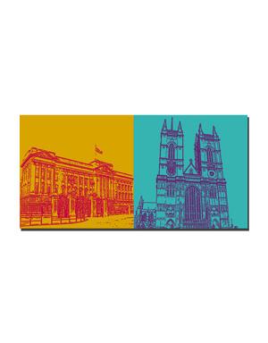 ART-DOMINO® BY SABINE WELZ London - Buckingham Palace + Westminster Abbey