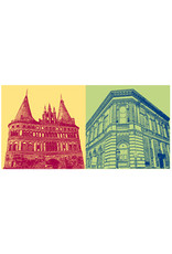 ART-DOMINO® BY SABINE WELZ Lübeck - Holstentor + Logenhaus