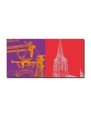 ART-DOMINO® BY SABINE WELZ Lübeck - Zum Goldenen Anker + St. Jakobi