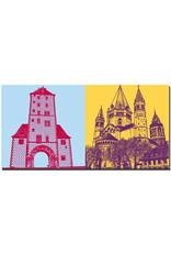 ART-DOMINO® BY SABINE WELZ Mainz - Eisenturm + Dom St. Marien