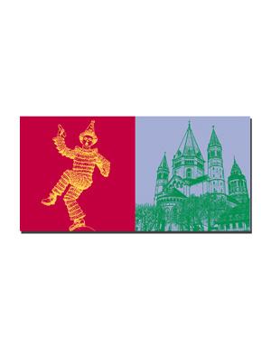 ART-DOMINO® BY SABINE WELZ Mainz - Mainzer Keppler Garde + Dom St. Marien