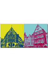 ART-DOMINO® BY SABINE WELZ Mainz - Altstadthaus/Ecke + Altstadthäuser