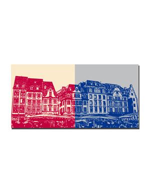 ART-DOMINO® BY SABINE WELZ Mainz - Häuser am Markt