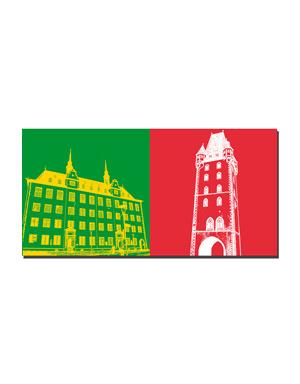 ART-DOMINO® BY SABINE WELZ Mainz - Alte Uni / Domus Uni + Holzturm