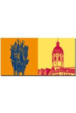 ART-DOMINO® BY SABINE WELZ Mainz - Fastnachtsbrunnen + St. Stephan