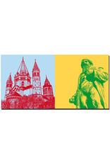 ART-DOMINO® BY SABINE WELZ Mainz - Dom St. Marien + Gutenberg