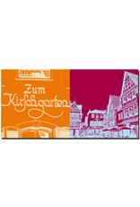 """ART-DOMINO® BY SABINE WELZ Mainz - Schild """"Zum Kirschgarten"""" + Am Kirschgarten"""
