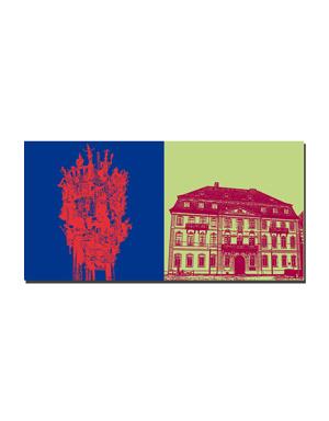 ART-DOMINO® BY SABINE WELZ Mainz - Fastnachtsbrunnen + Bassenheimer Hof / Innenministerium