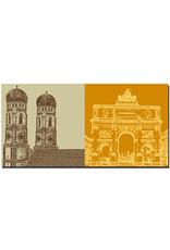 ART-DOMINO® BY SABINE WELZ München - Frauenkirche + Siegestor