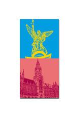ART-DOMINO® BY SABINE WELZ München - Friedensengel + Neues Rathaus