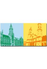 ART-DOMINO® BY SABINE WELZ München - Neues Rathaus + Ludwigkirche