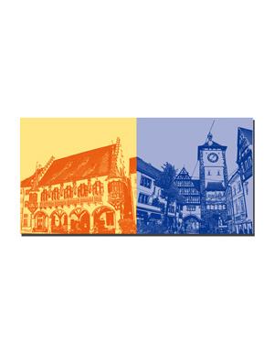 ART-DOMINO® BY SABINE WELZ Freiburg - Historisches Kaufhaus + Schwabentor