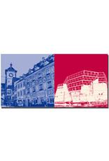 ART-DOMINO® BY SABINE WELZ Freiburg - Schwabentor-Bärenhotel + Uni-Bibliothek