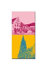 ART-DOMINO® BY SABINE WELZ Freiburg - Kornhaus/Münsterplatz + Münsterkirche