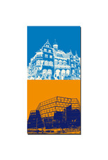 ART-DOMINO® BY SABINE WELZ Freiburg - Neues Rathaus + Uni-Bibliothek
