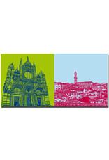 ART-DOMINO® BY SABINE WELZ Siena - Dom + Panorama mit Rathaus