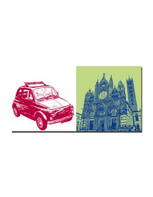 ART-DOMINO® BY SABINE WELZ Siena - Oldtimer Fiat 500+ Dom