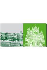 ART-DOMINO® BY SABINE WELZ Siena - Piazza del Campo + Dom