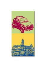 ART-DOMINO® BY SABINE WELZ Siena - Oldtimer Fiat 500+ Panorama mit Dom