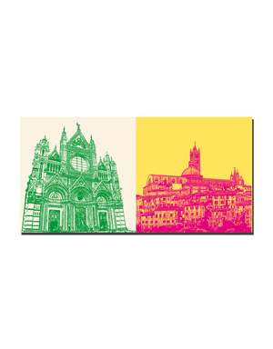 ART-DOMINO® BY SABINE WELZ Siena - Dom + Panorama mit Dom