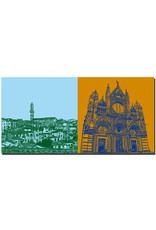 ART-DOMINO® BY SABINE WELZ Siena - Panorama mit Rathaus + Dom