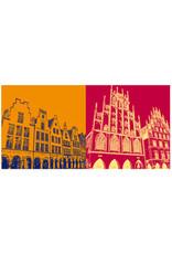 ART-DOMINO® BY SABINE WELZ Münster - Prinzipalmarkt + Rathaus