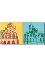 ART-DOMINO® BY SABINE WELZ Münster - Rathaus + Dom-Eingang