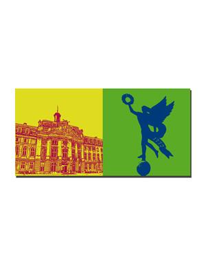 ART-DOMINO® BY SABINE WELZ Münster - Schloß + Schloßengel