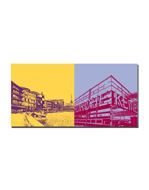 ART-DOMINO® BY SABINE WELZ Münster - Hafenkai + Gehorche Keinem