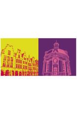 ART-DOMINO® BY SABINE WELZ Münster - Prinzipalmarkt + Clemenskirche