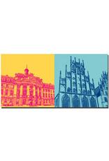 ART-DOMINO® BY SABINE WELZ Münster - Schloß + Rathaus