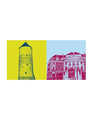 ART-DOMINO® BY SABINE WELZ Münster - Buddenturm + Erbdrostenhof