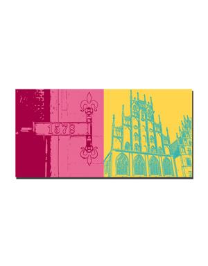 ART-DOMINO® BY SABINE WELZ Münster - Symbol 1578 + Rathaus