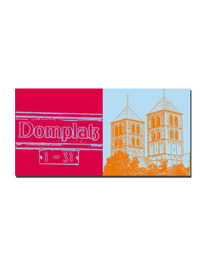 ART-DOMINO® BY SABINE WELZ Münster - Domplatz + Dom-Türme
