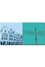 ART-DOMINO® BY SABINE WELZ Münster - Prinzipalmarkt + Schild Prinzipalmarkt