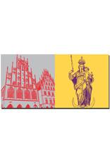 ART-DOMINO® BY SABINE WELZ Münster - Rathaus + Marienfigur