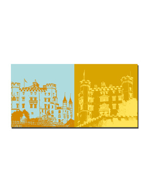 ART-DOMINO® BY SABINE WELZ Neuschwanstein - Schloss Hohenschwangau + Schloss Hohenschwangau