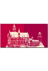 ART-DOMINO® BY SABINE WELZ Neuschwanstein - Schloss Neuschwanstein + Schloss Neuschwanstein